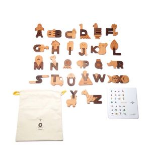Blocs Alphabet en bois