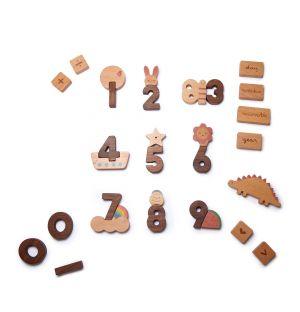 Blocs Numéro en bois