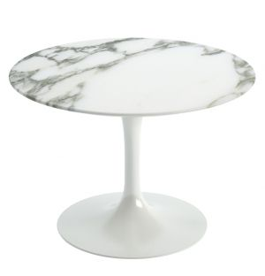 Table basse ronde marbre arabescato D.51 cm - Knoll