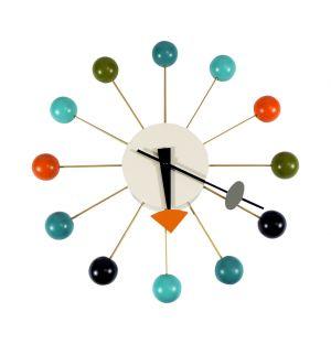 Horloge Ball Clock multicolore - Vitra