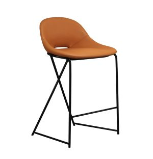 Chaise de bar Cross Leg - piétement noir - H 69 cm