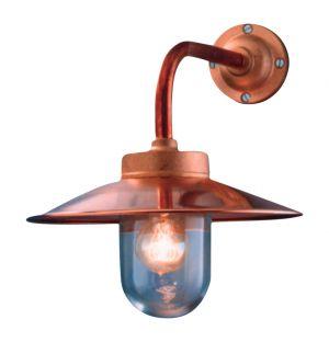 Lampe d'extérieur en métal cuivré