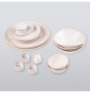 Service de table Organic Sand - 20 pièces en grès naturel
