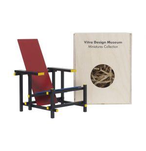 Miniature Chaise Rood-Blauwe 1918 - Vitra