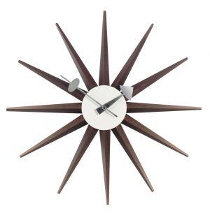 Horloge Sunburst Clock noyer - Vitra
