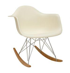 Chaise à bascule RAR crème - Vitra