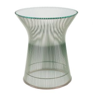 Table d'appoint Platner D.40cm - piètement nickel poli - Knoll