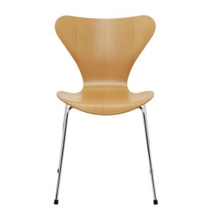 Chaise Série 7 - modèle 3107 -  pin d'Oregon mat - Fritz Hansen