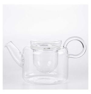 Théière basse Piuma en verre