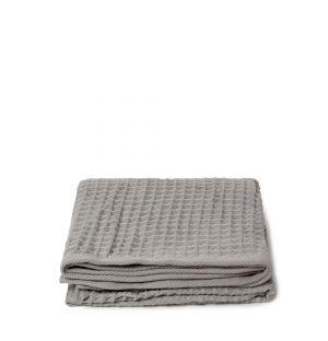 Serviette invité en tissu gaufré gris