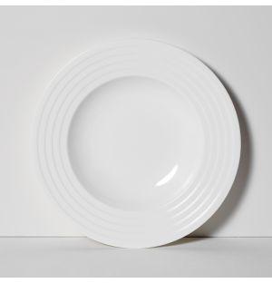 Assiette à soupe Fine Dining Relief 25 cm
