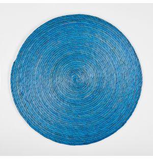 Set de table rond bleu