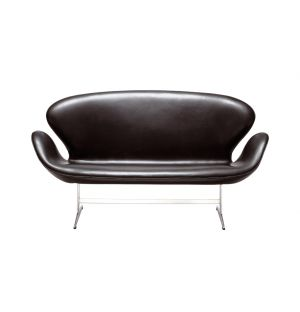 Canapé Swan cuir classique noir