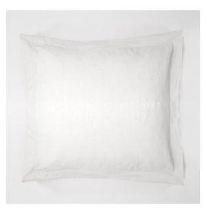 Taie d'oreiller Oxford en lin blanc - 65 x 65 cm