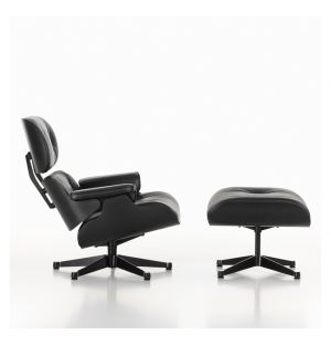 Lounge Chair & Ottoman - Black Edition - dimensions classiques - Vitra