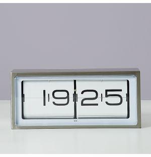 Horloge digitale 24 heures en acier inoxydable Brick