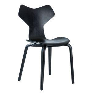 Chaise Grand Prix - frêne coloré noir - Fritz Hansen