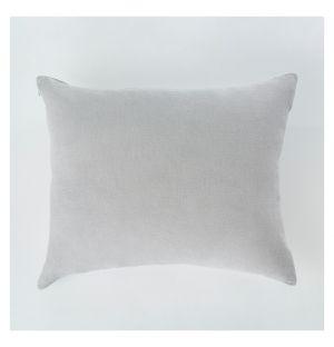 Housse de coussin en lin gris - 40 x 50 cm