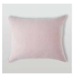 Housse de coussin en lin rose poudré - 40 x 50 cm
