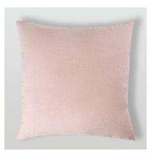 Housse de coussin en lin rose - 65 x 65 cm
