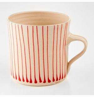 Mug droit Stripe rouge - grand modèle