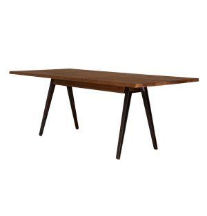 Table Welles noyer huilé & fonte - 200 x 90 cm - De la Espada