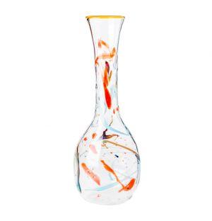Carafe multicolore en verre 32 cm - Massimo Lunardon