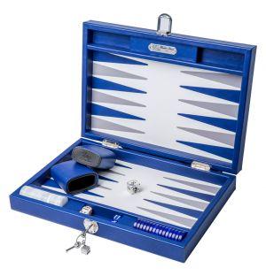 Jeu de backgammon bleu