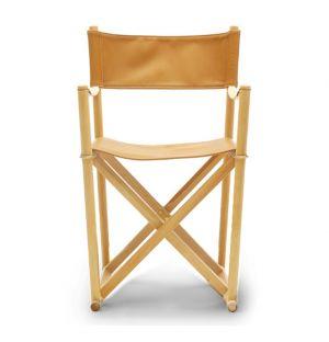 Chaise pliante hêtre et cuir - Carl Hansen