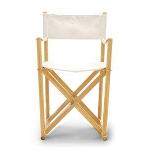Chaise pliante hêtre et toile - Carl Hansen