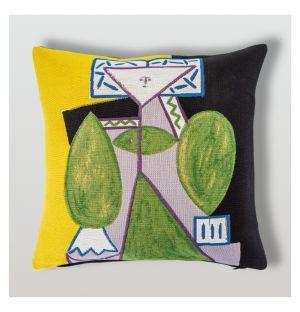 Housse de coussin Picasso - Femme en vert et mauve