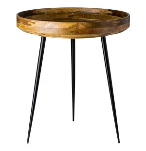 Table d'appoint Bowl - plateau bois de manguier