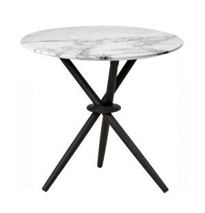 Table d'appoint en marbre et chêne Stix
