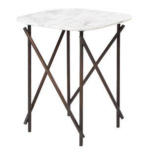 Table d'appoint Workshop en marbre Arabescato