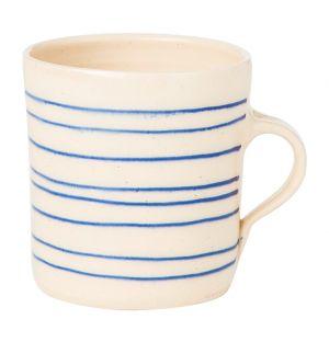 Mug droit Stripe bleu horizontal
