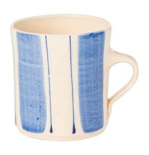 Mug Stripe bleu rayures larges