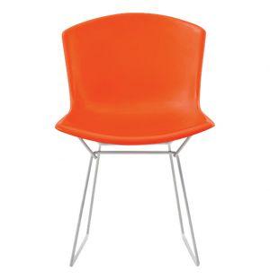 Chaise Bertoia Plastic Side Chair rouge - Modèle d'expo