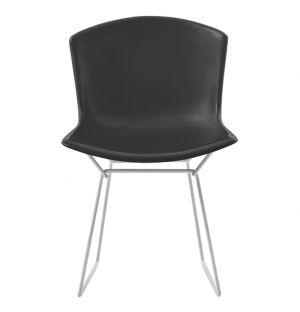 Chaise Bertoia Plastic Side Chair noire - piétement chromé