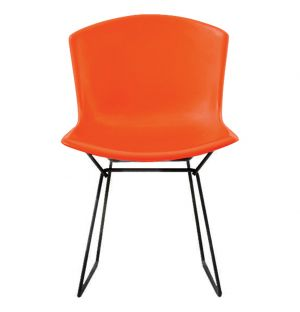 Chaise Bertoia Plastic Side Chair - rouge