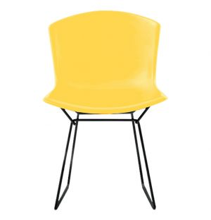 Chaise Bertoia Plastic Side Chair - jaune