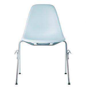 Chaise DSS empilable gris bleuté - Vitra