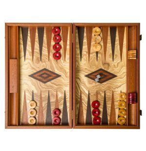 Jeu de Backgammon en olivier