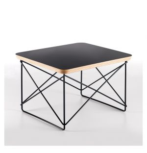 Table d'appoint LTR plateau noir  - piètement noir