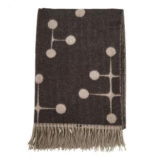 Couverture en laine Dot Pattern Noir