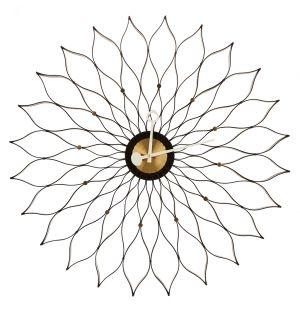 Horloge Sunflower Clock frêne noir / laiton - Vitra