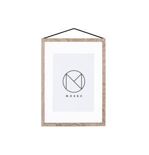 Cadre chêne et caoutchouc - format A4