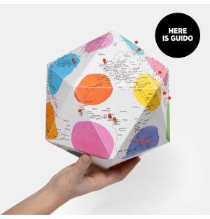 Globe en papier Here by Guido