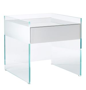 Table de chevet blanche Float