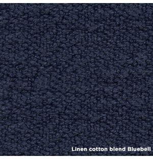 Lit Hepburn noyer 180 x 220 cm - Tête de lit en lin et coton - De La Espada