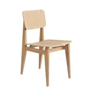 Chaise C-Chair en placage de chêne